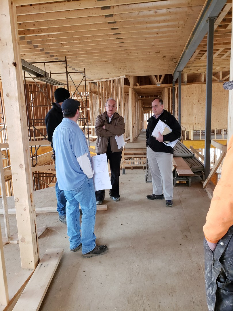 Delaware, OH - Construction meeting for beautiful Ralph Fallon cutom home.