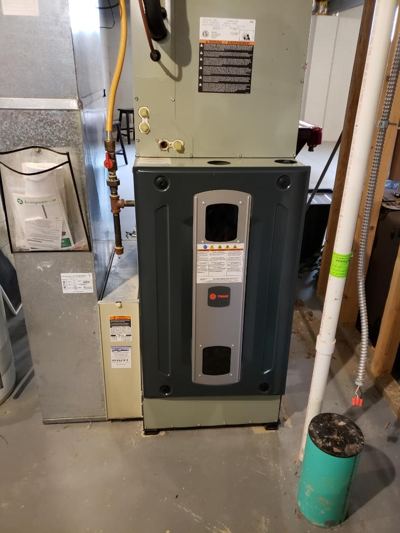 Galena, OH - Install new Trane S9V2 furnace