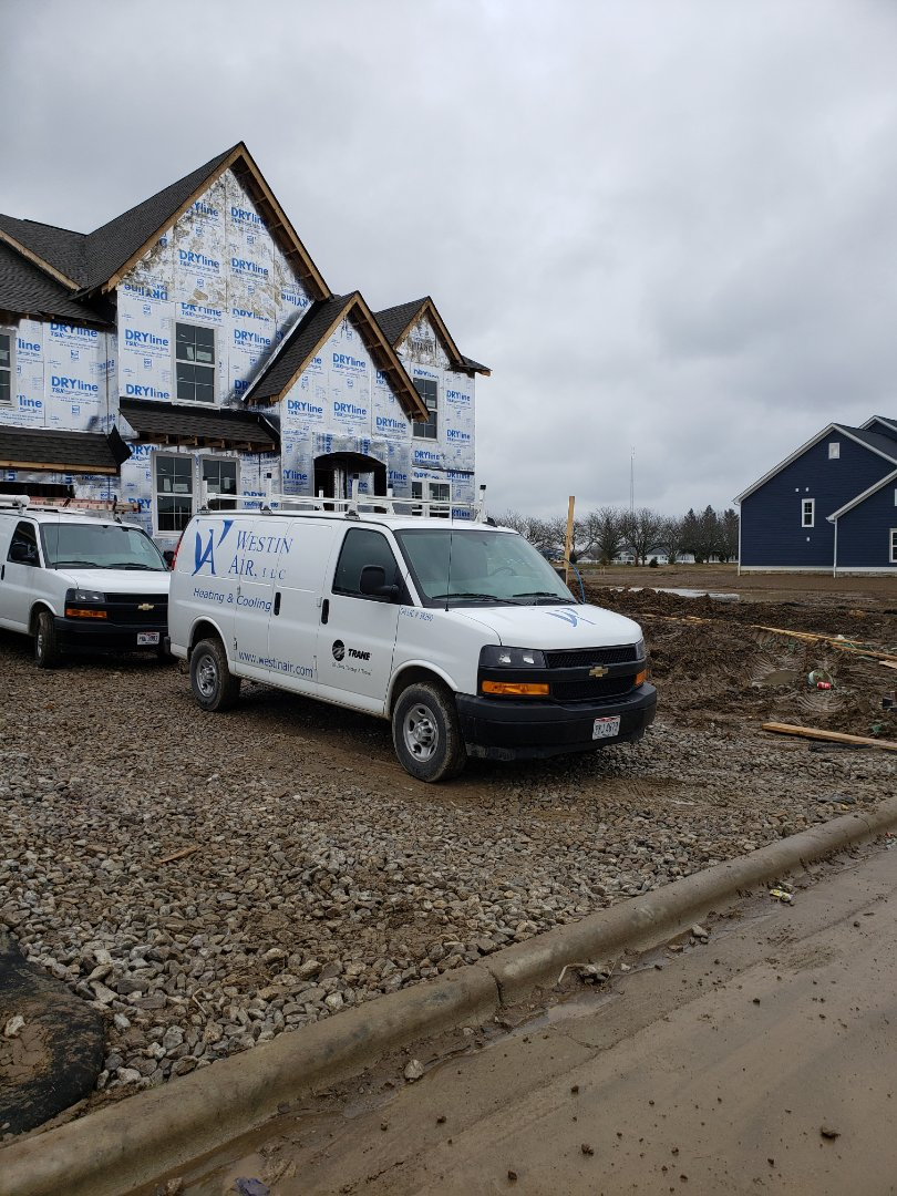 Delaware, OH - Doing a furnace set in a new Fischer home today