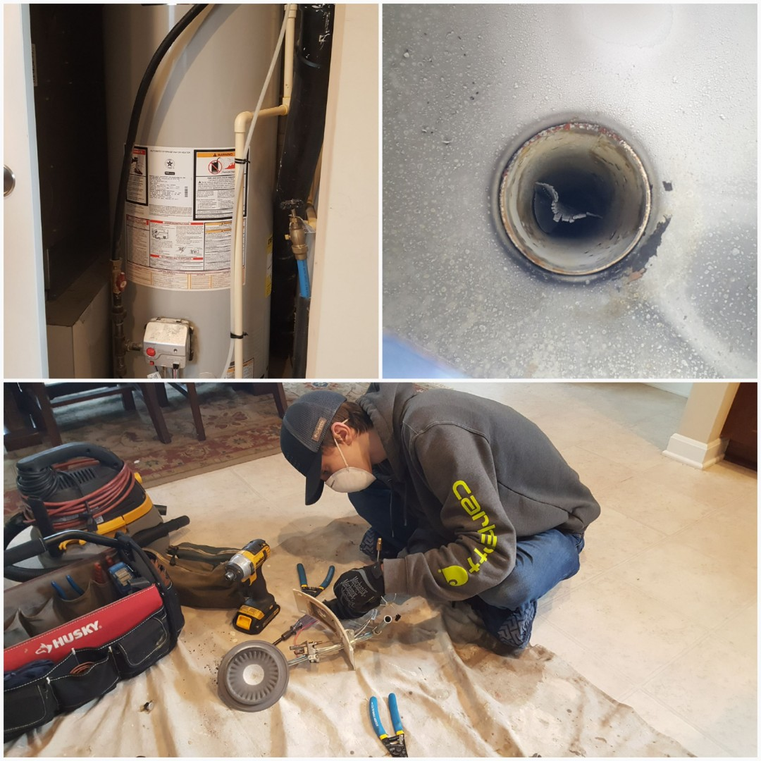 Columbus, OH - Bradford White Water Heater Burner inspection, pilot cleaning, safety switch replacement