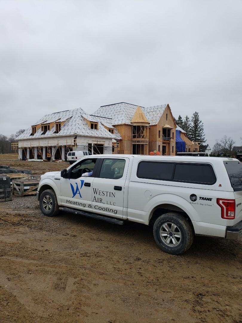 Delaware, OH - Hvac installation in a beautiful Ralph Fallon home near Delaware.
