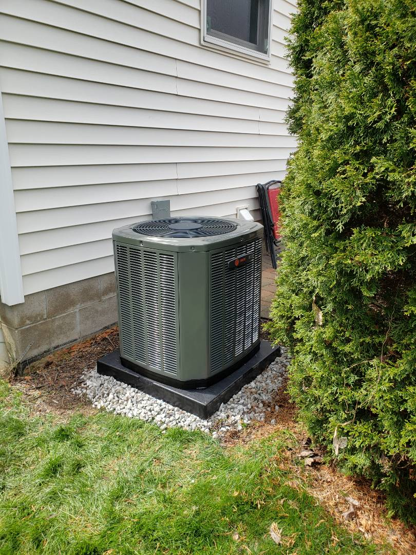 Westerville, OH - Just installed a new Trane air conditioner