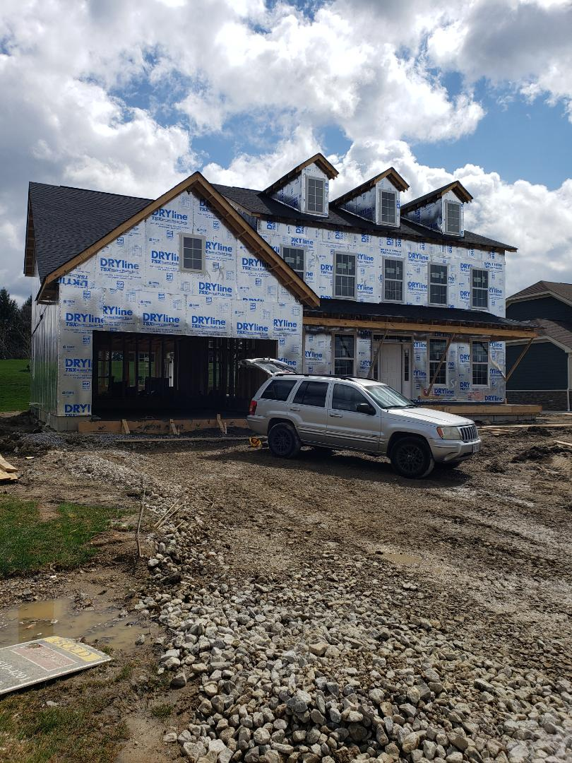 Galena, OH - Hvac installation in a new construction Fischer home near Galena.