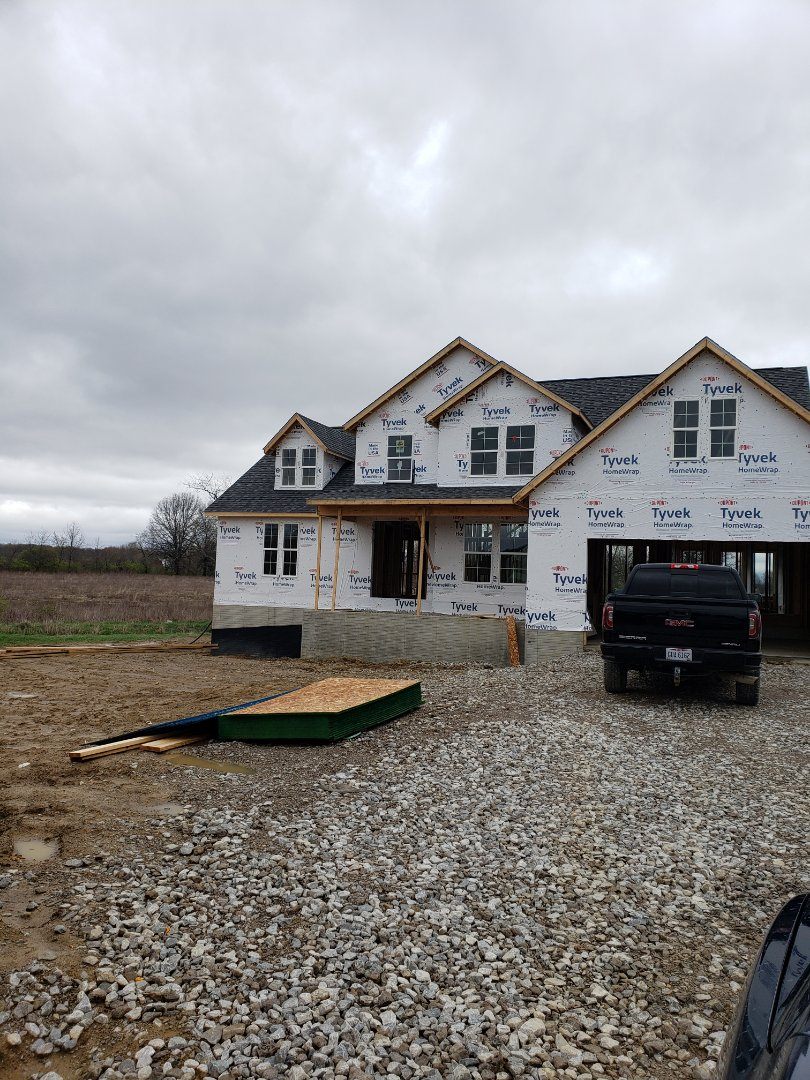 Sunbury, OH - Waterfurnace geothermal installation in new construction home.