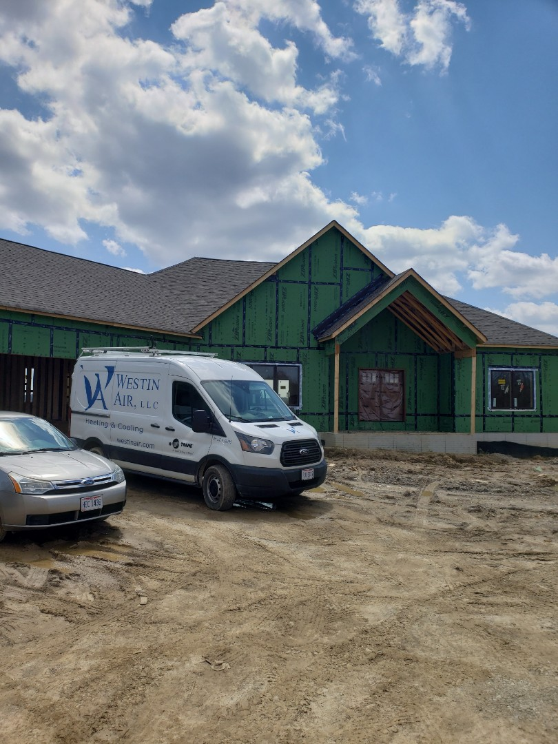 Waterfurnace geothermal installation in new construction home near Granville.