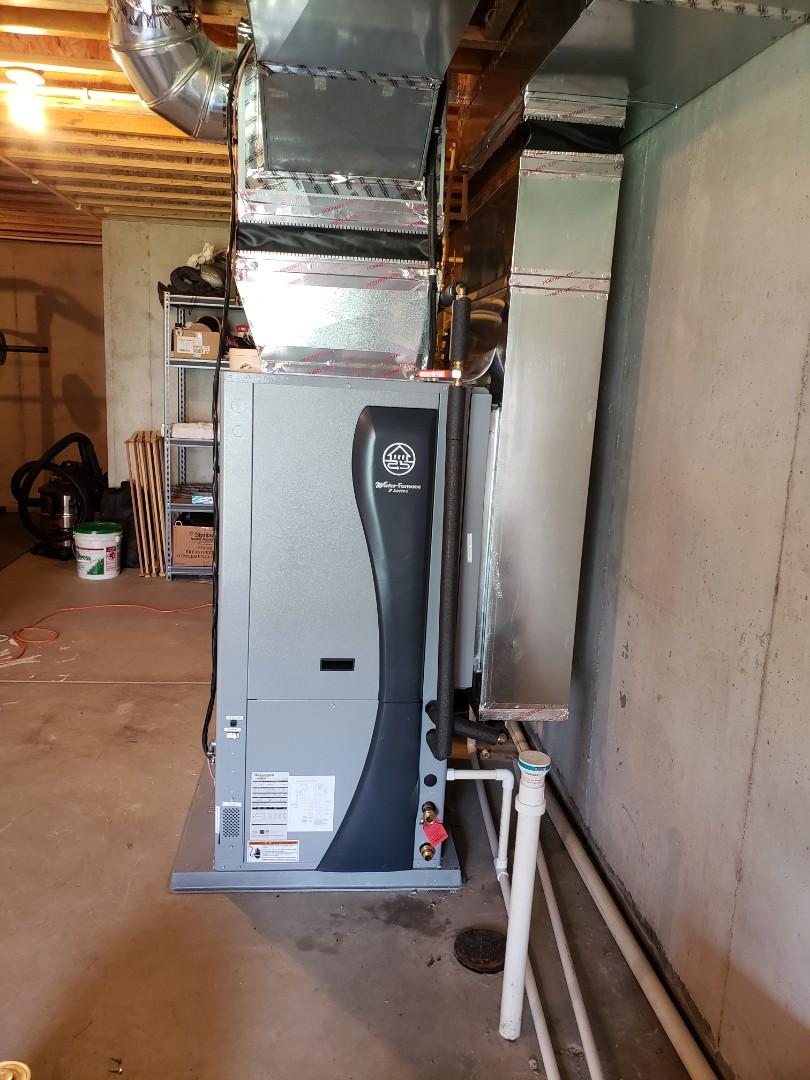 Installing a series 7 waterfurnace geothermal.