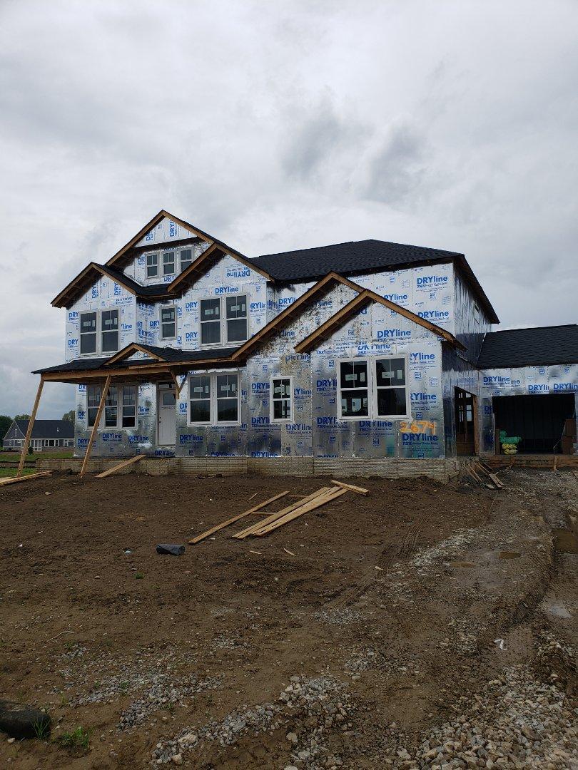 Hvac installation in Fischer home new construction home.