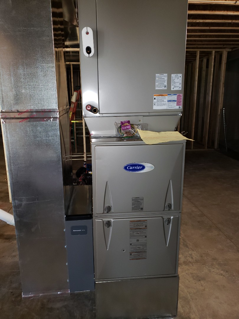 Delaware, OH - Carrier furnace and AC installation in a 3 Pillar new construction home in Woodland Hall.