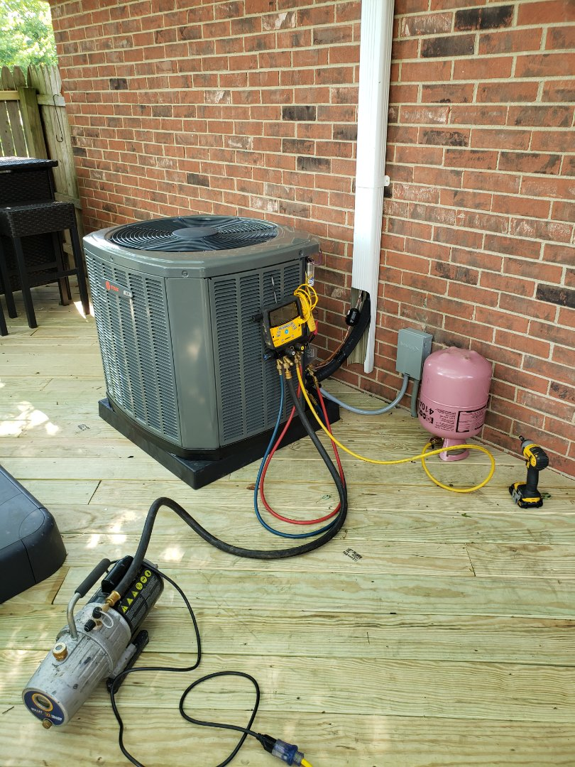 Westerville, OH - Installing a new Trane air conditioner