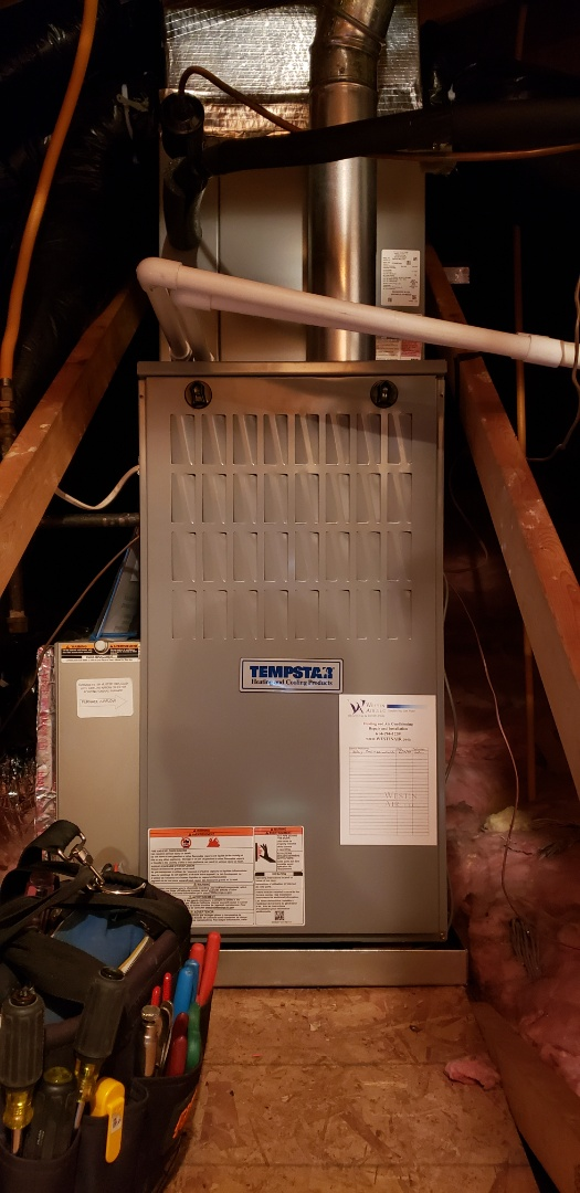 Delaware, OH - Cooling system maintenance on Tempstar HVAC equipment.