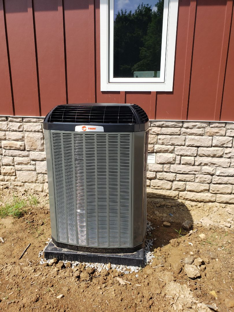 Johnstown, OH - Trane XL 18i air conditioner installation.