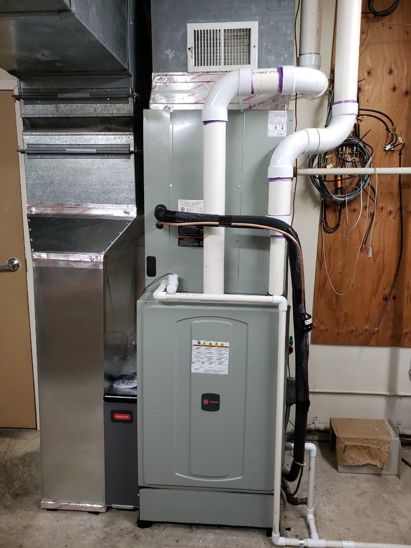 Sunbury, OH - Installing a new Trane system