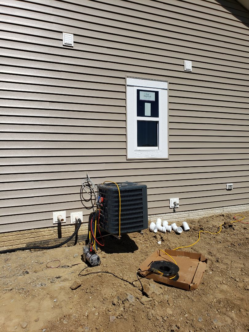 Delaware, OH - Bryant air conditioner installation.