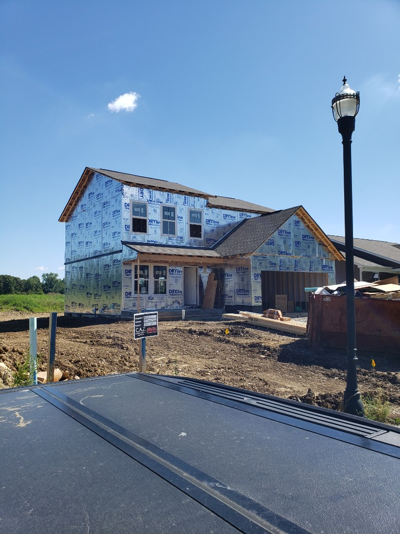 Delaware, OH - Duct work installation in new construction Fischer home in the Ravines of the Olentangy.