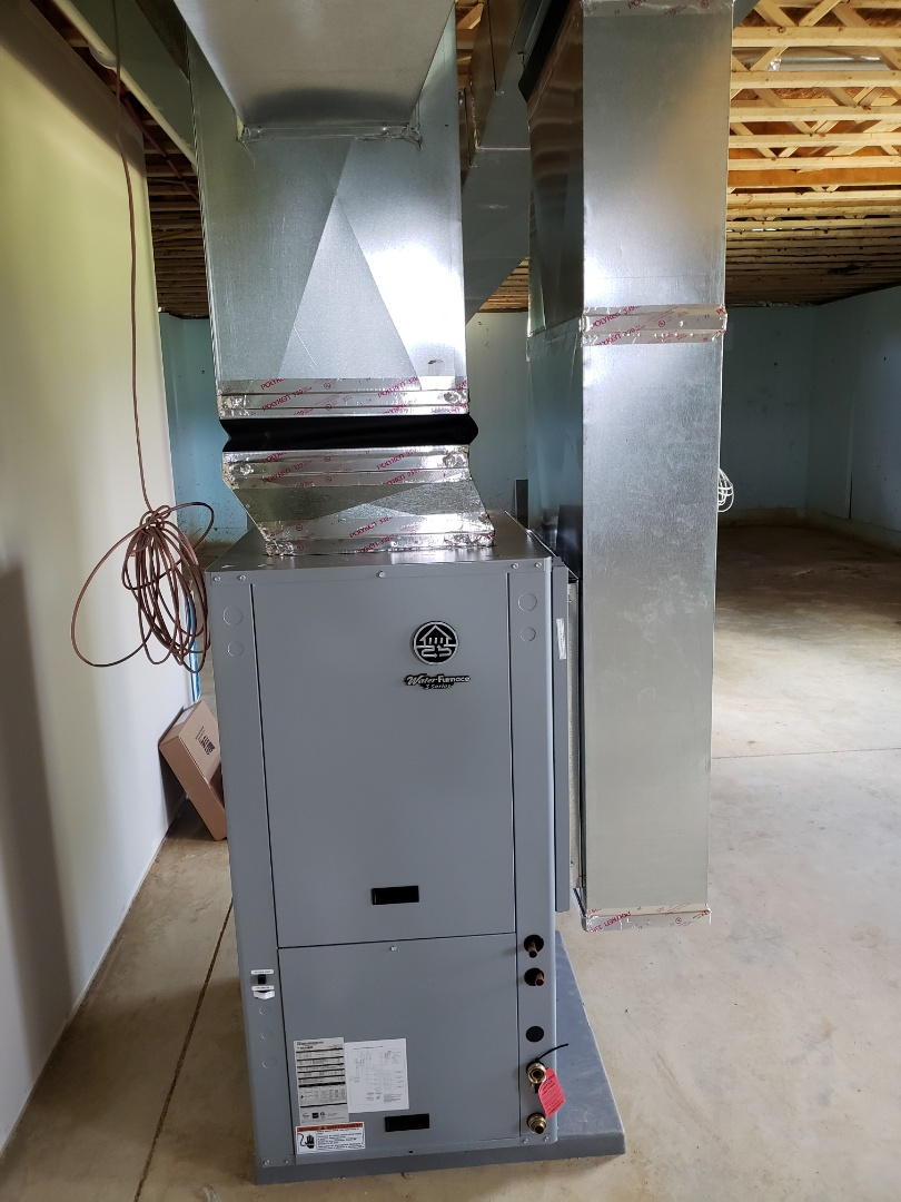 Sunbury, OH - Installing  a water furnace geothermal unit