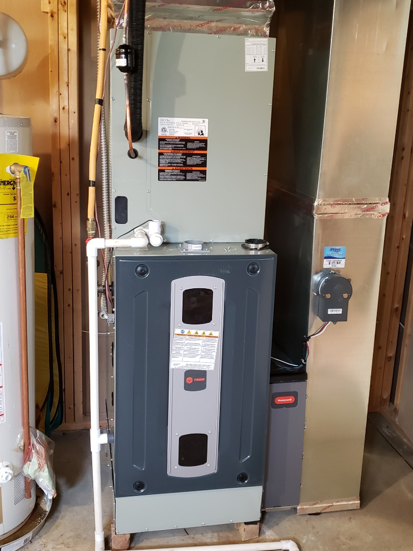 Galena, OH - Installing a new Trane furnace and air-conditioning system