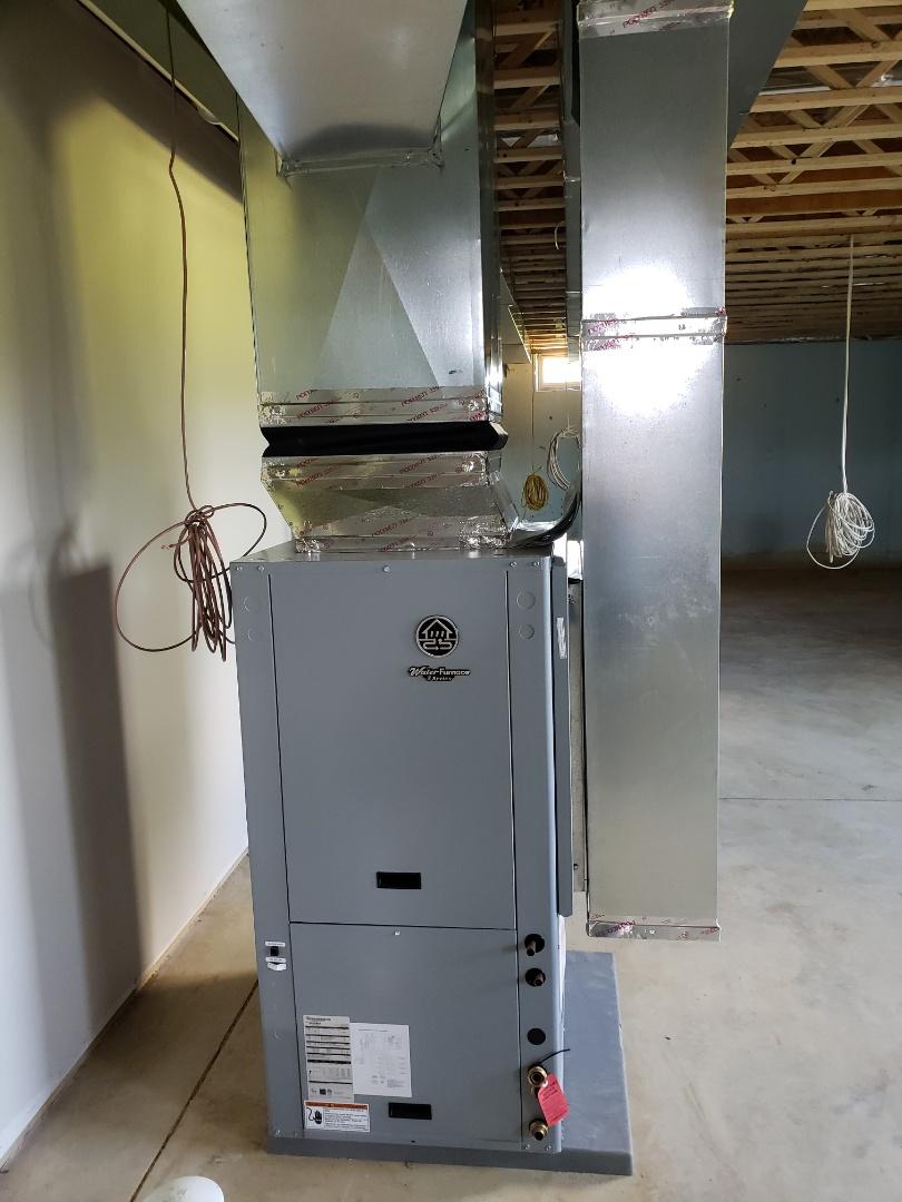 Sunbury, OH - WaterFurnace 3 series geothermal installation.