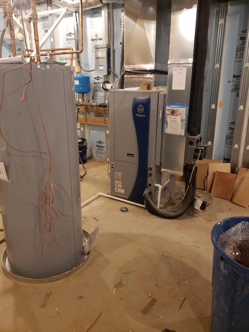 Waterfurnace geothermal installation.
