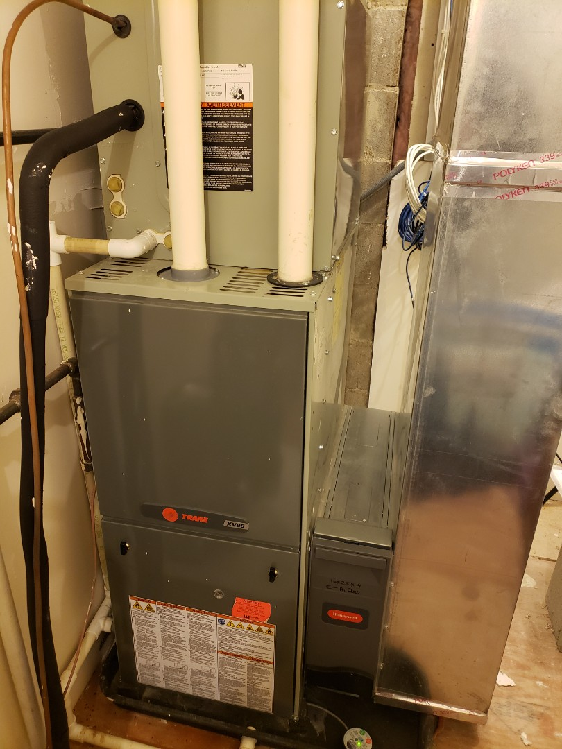 Tune up on a Trane XV95 furnace.