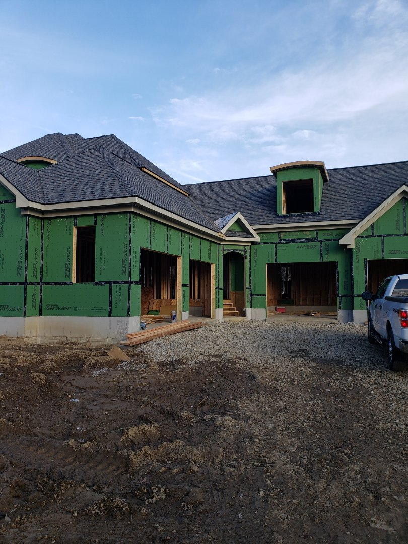 Powell, OH - Trane furnace installation in New construction custom home.