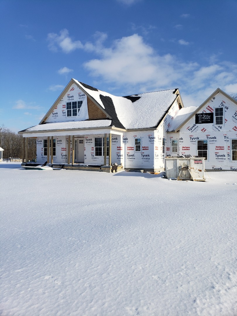 Geothermal installation in 3 Pillar new construction home.