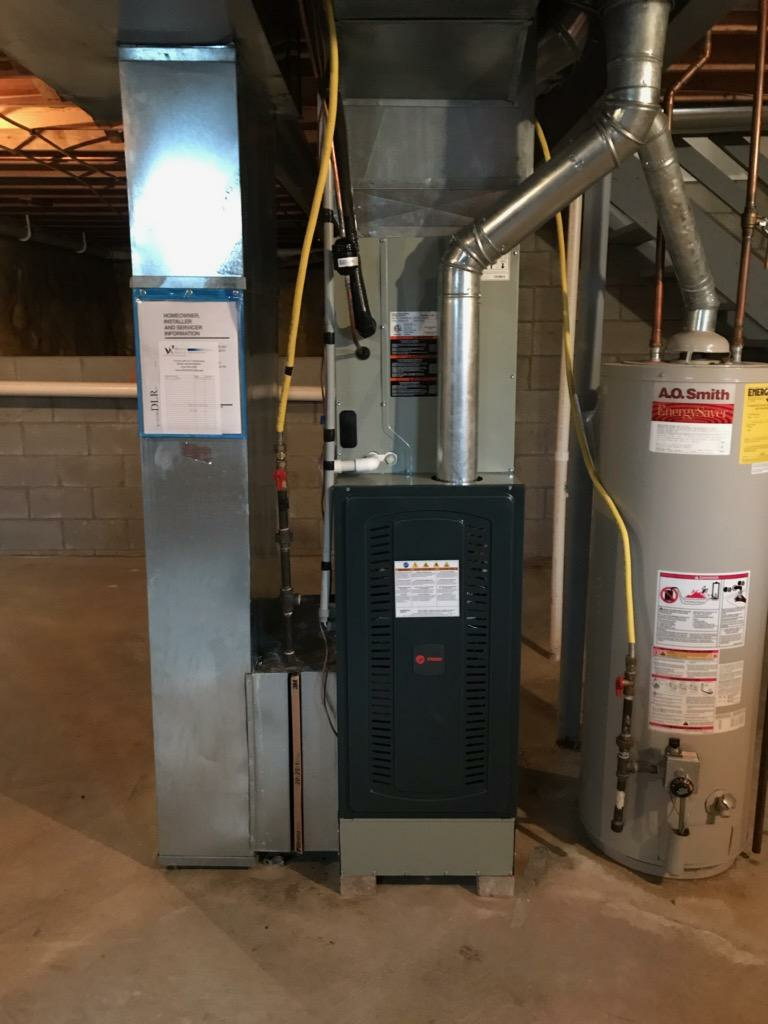 Columbus, OH - Trane S9V2 high efficiency gas furnace installation. This is a high quality system.