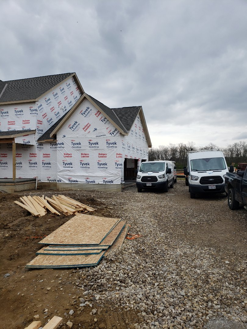 Waterfurnace geothermal heat pump installation in a 3 Pillar new construction home.