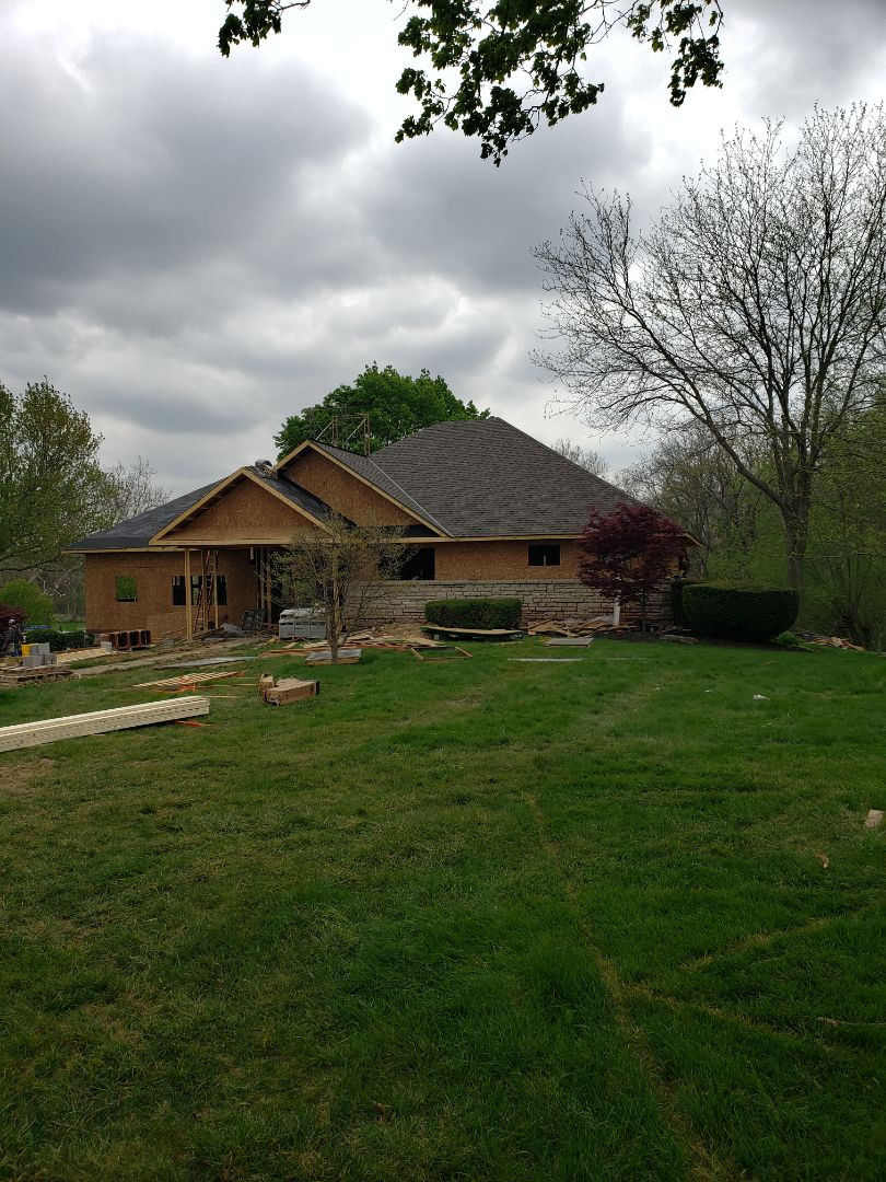 Geothermal installation in New construction home.