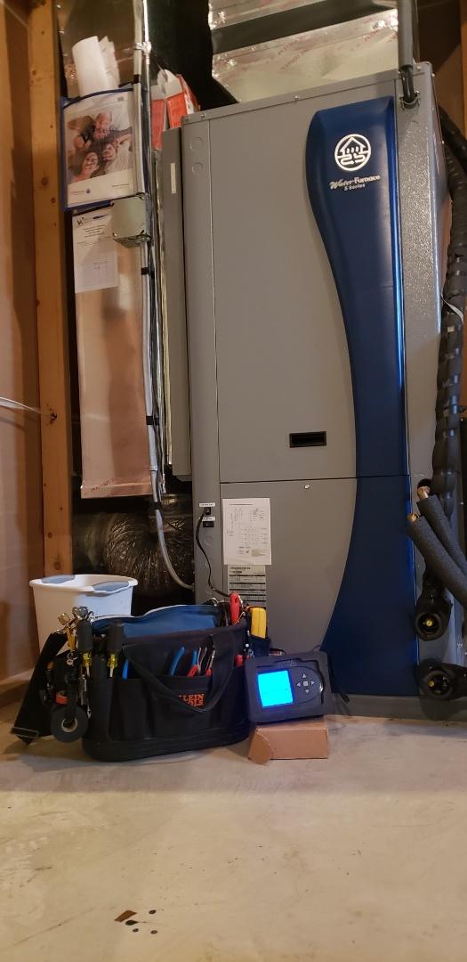 WaterFurnace Geothermal 5 Series maintenance. Working great.