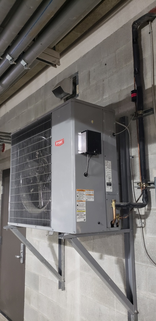 Side discharge air conditioner. Designed for wall mount and tight spot applications.