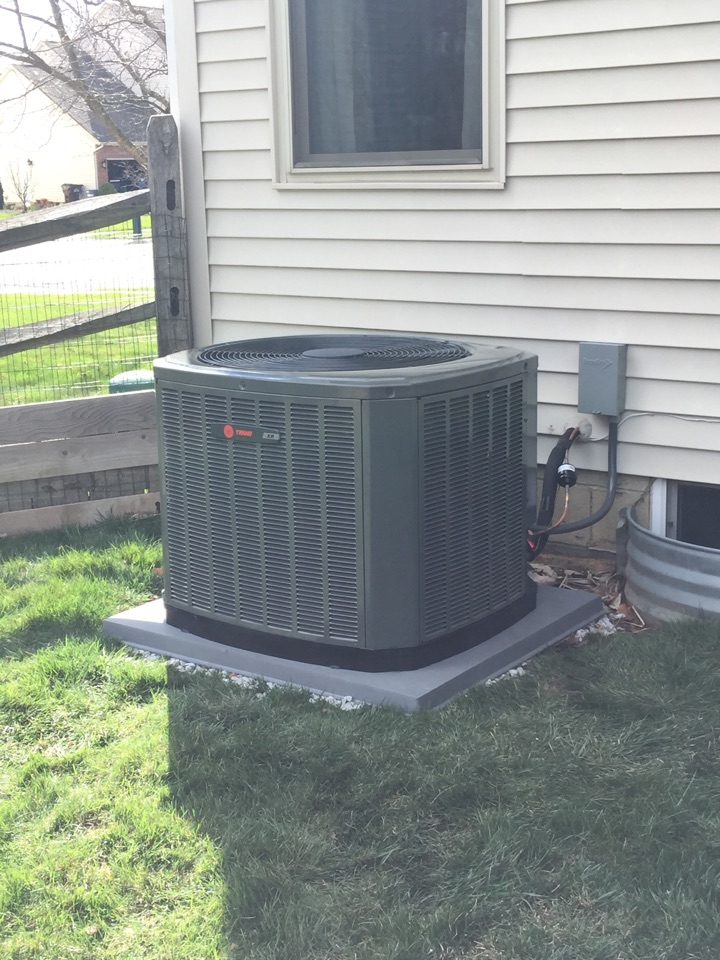 Reynoldsburg, OH - Installed a Trane full system in Reynoldsburg, Ohio