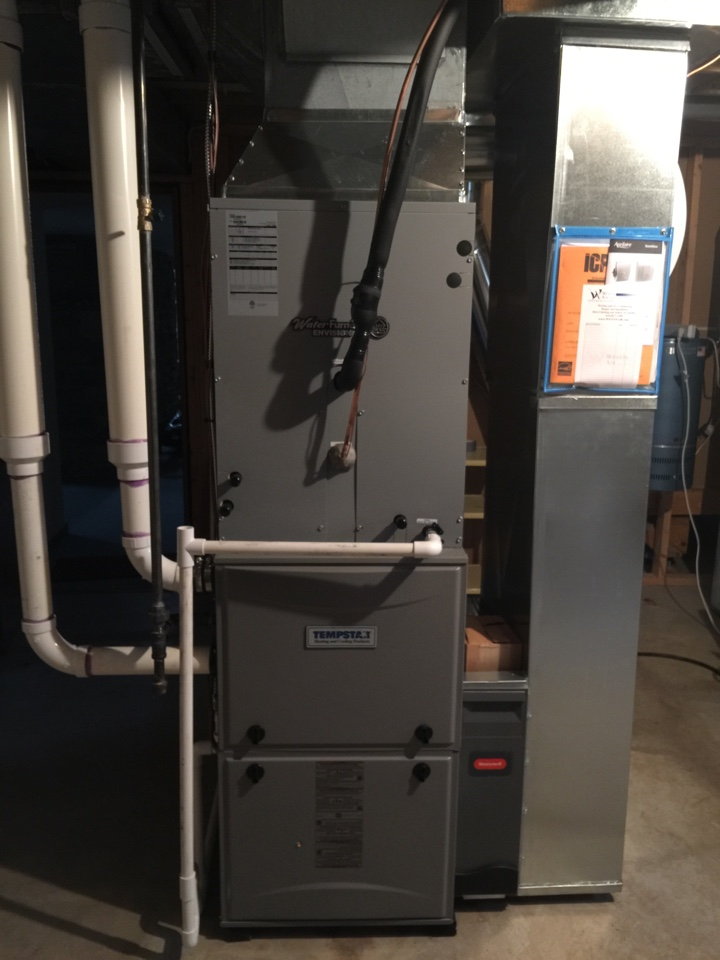 Johnstown, OH - Connected existing geothermal unit up to wifi mobile controlling for home owners convenience, HVAC, furnace repair