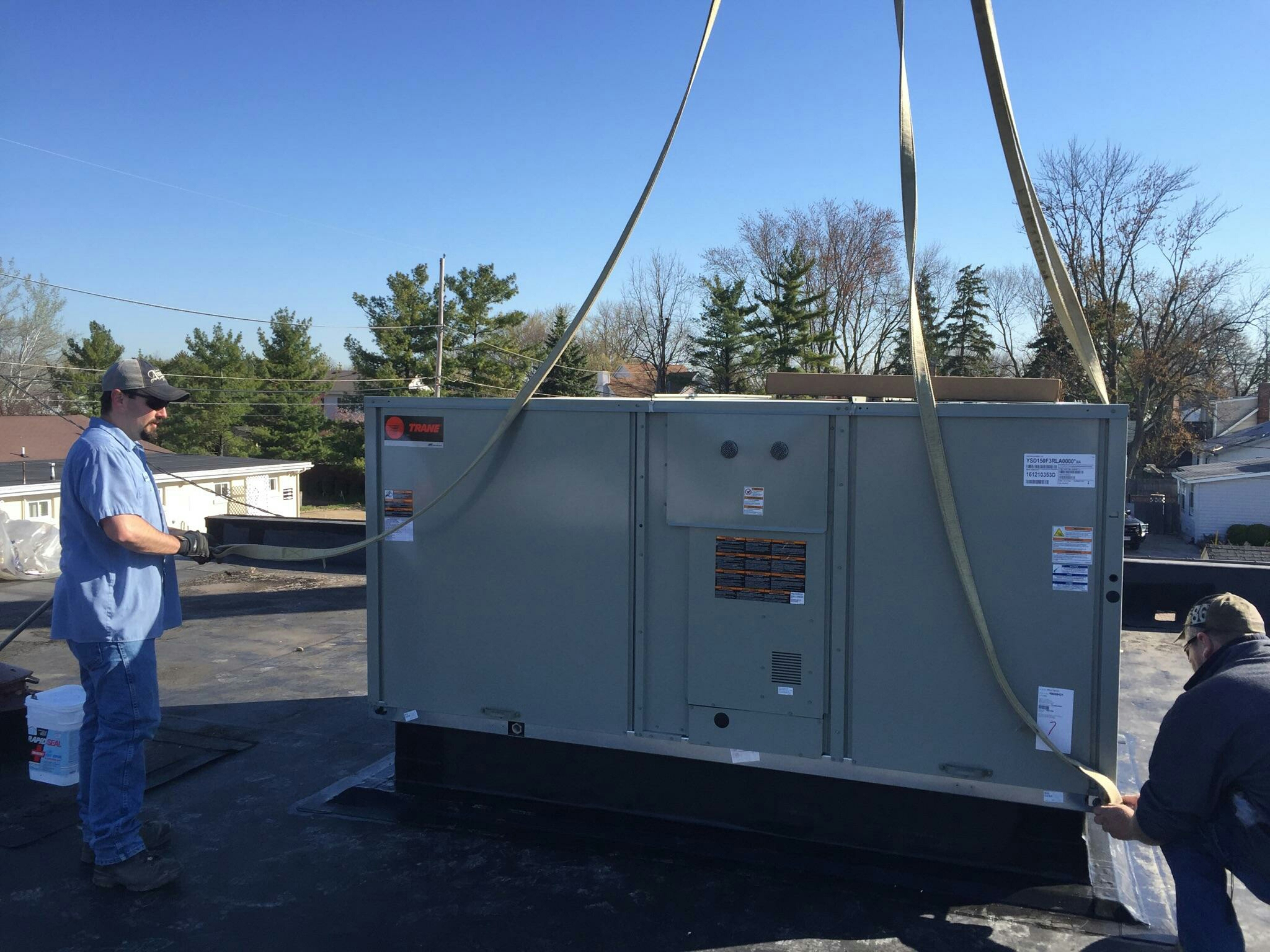 Hilliard, OH - Trane roof top unit (RTU) installation. Beautiful