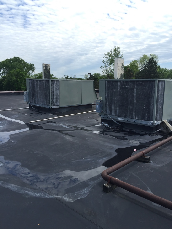 Hilliard, OH - Cleaning coils, changing filters, and performing preventative maintenance on multiple rooftop units in Hilliard,Ohio