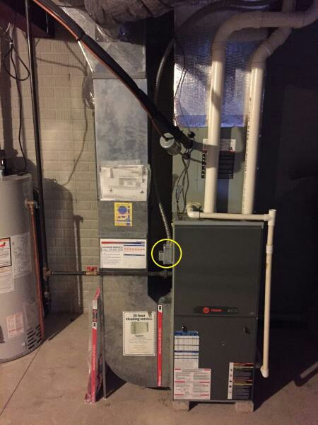 New Albany, OH - Trane 90% high-efficiency heating system maintenance tune up and cleaning Honeywell automatic bypass humidifier winter setup Pickett Place New Albany Ohio 43054