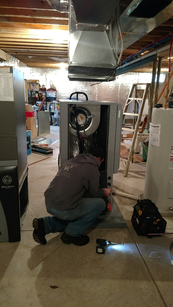 Galena, OH - Installing Water Furnace 7 series Geothermal unit in Galena.