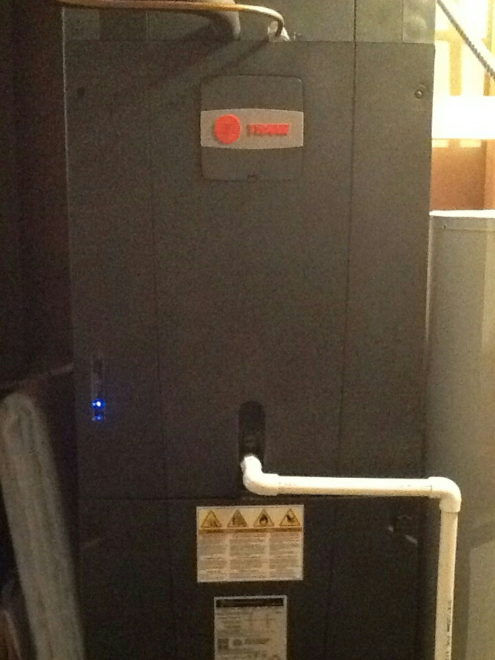 Delaware, OH - Trane TAM 7 electric air handler, heat pump, Trane clean effects air purifier, Aprilair 440 heating system maintenance inspection and winter setup Perry rd Delaware ohio 43015