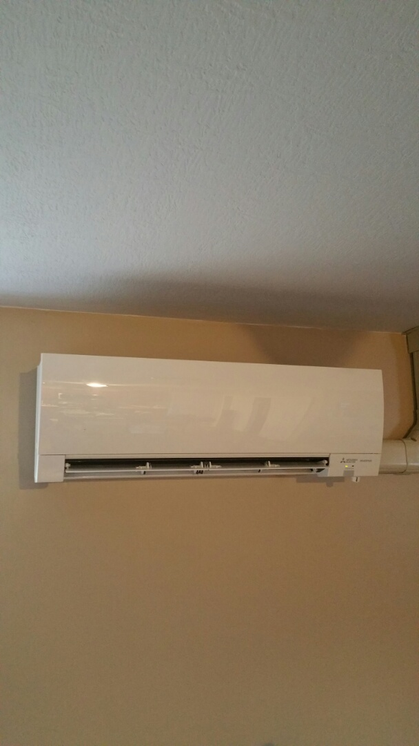 Mount Vernon, OH - Performing maintenance on a Mitsubishi ductless split system near Centerburg Ohio