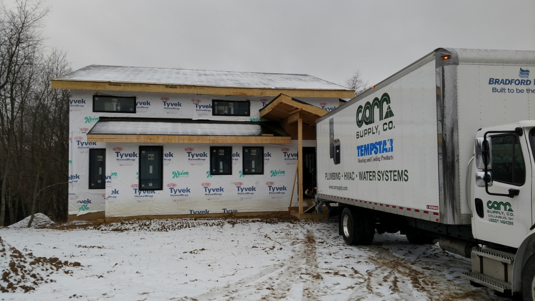 Galena, OH - HVAC installation in new construction home in Galena.