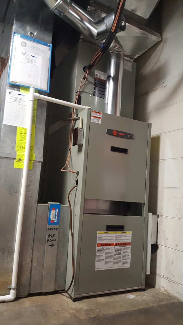 Delaware, OH - Trane xv80 Variable speed 80% with Beckett fuel oil burner New replacement install Indian Ct. Westerville, OH 43082