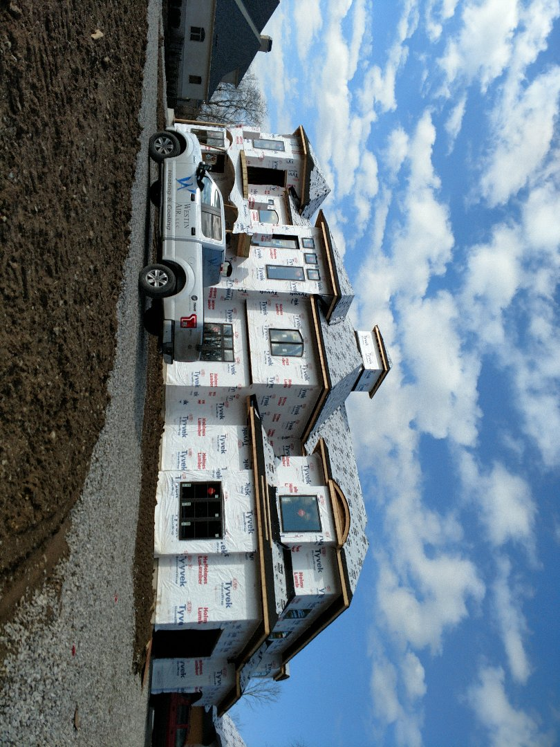 Powell, OH - HVAC installation on new construction custom home near Powell.