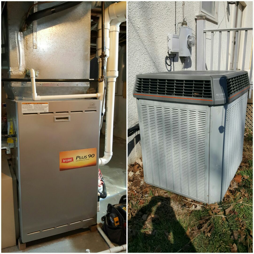 Bexley, OH - Sellers Heating and Cooling inspection tune-up and cleaning. Bryant Plus 90 high efficiency gas heating, Trane XL 1200 super efficiency R22 Cooling S. Merkle Rd. Columbus, OH 43209