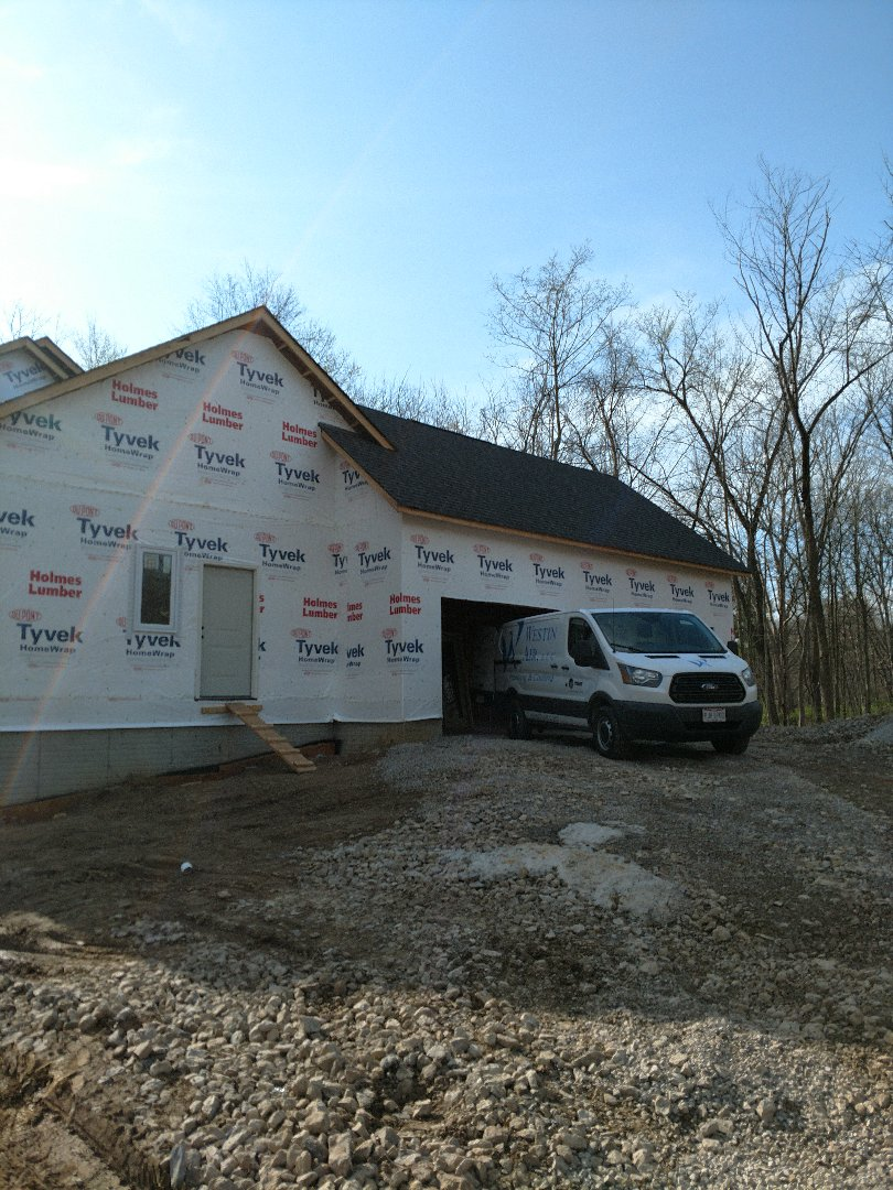 Delaware, OH - HVAC installation on 3 PILLAR new construction home.