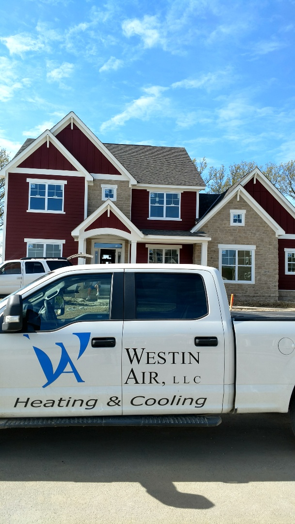 Lewis Center, OH - Installing Trane XR13 air conditioner in new construction home in Lewis Center.