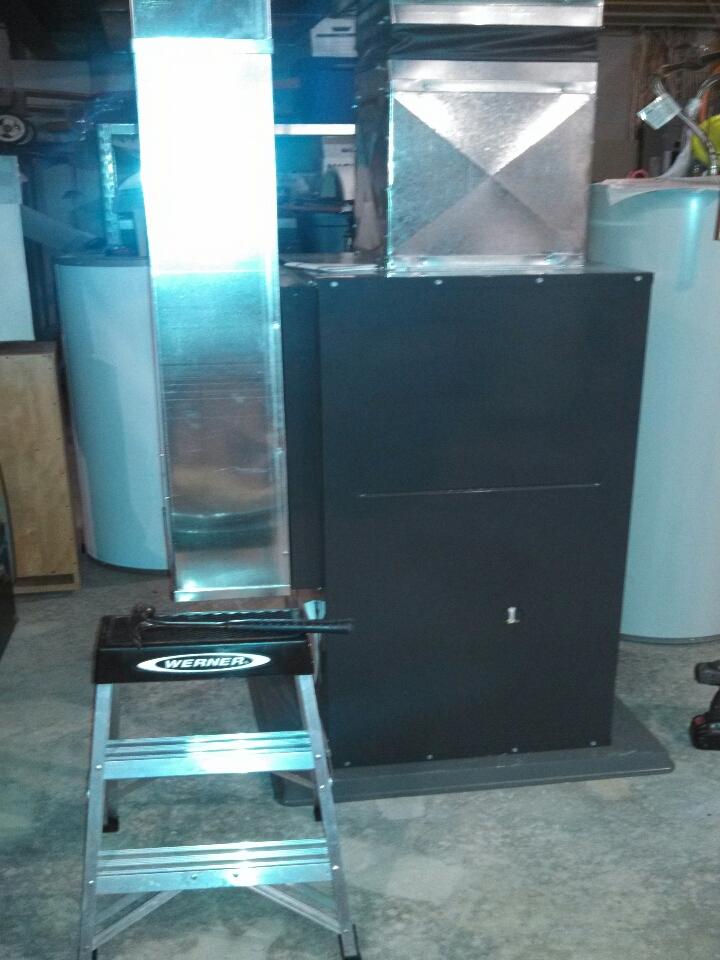 Mount Vernon, OH - installing Trane geothermal heat pump