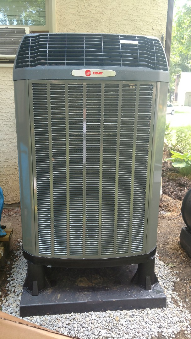 Westerville, OH - Trane XL18i heat pump and TAM7 air handler install in Westerville.