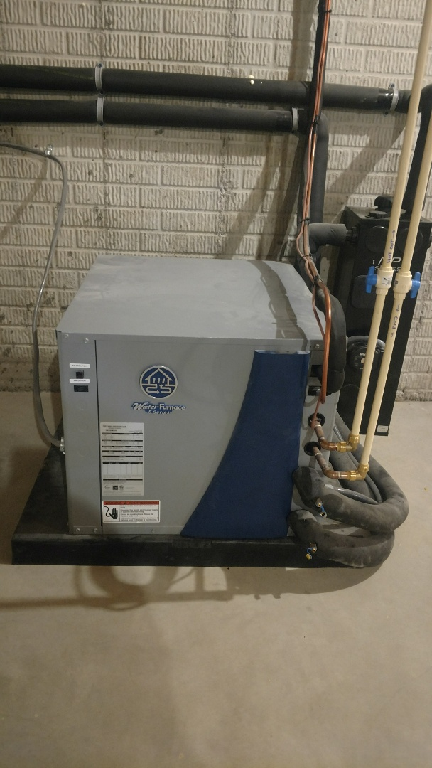 Galena, OH - Water Furnace 5 Series Geothermal installation near Galena