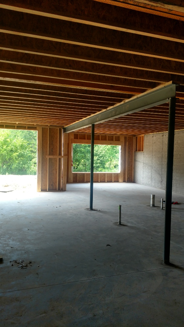 Delaware, OH - Laying out duct work for 3 Pillar new construction home near Delaware.