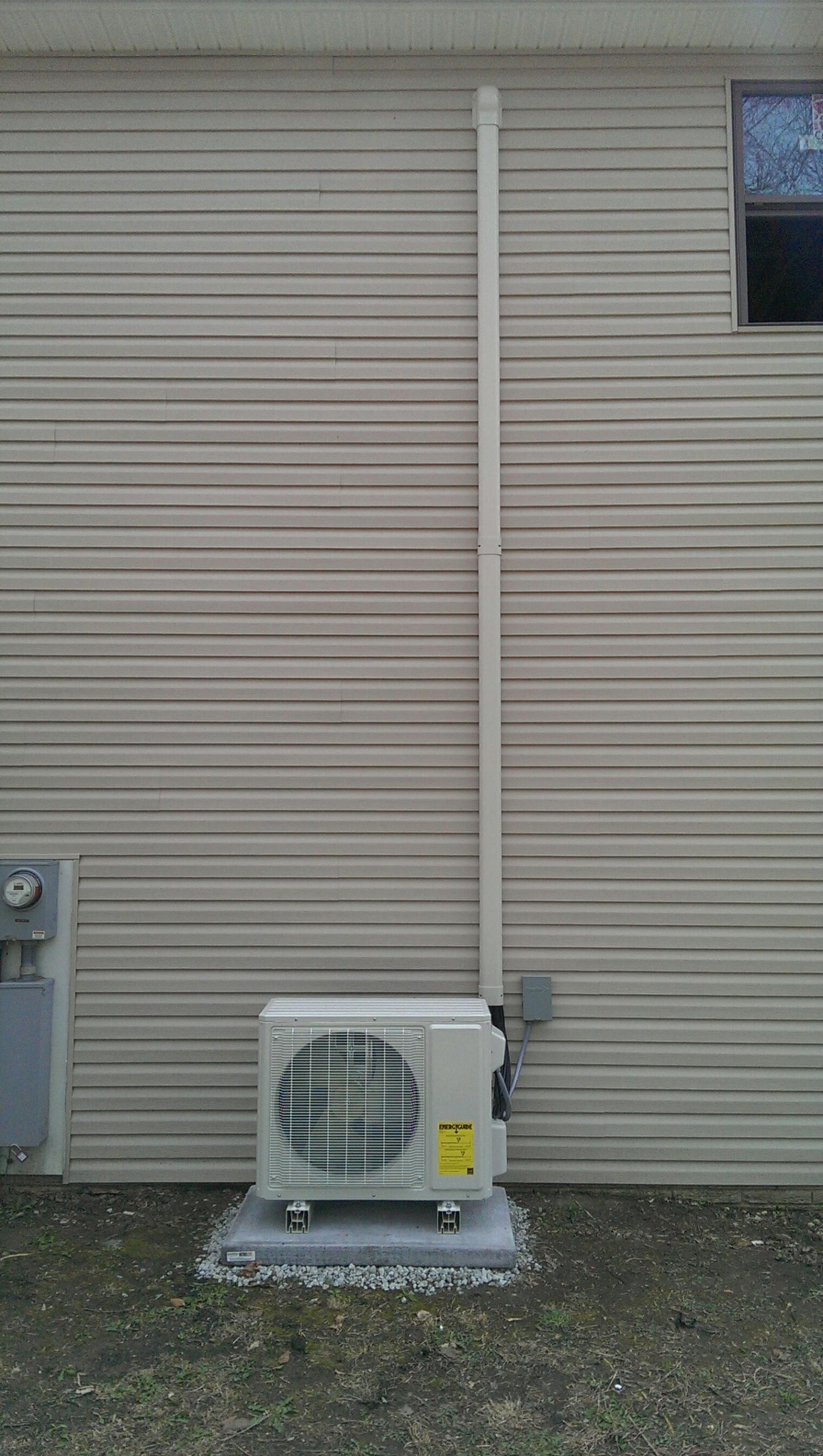 Reynoldsburg, OH - With Jason installing trane mini split system , looks and works awesome