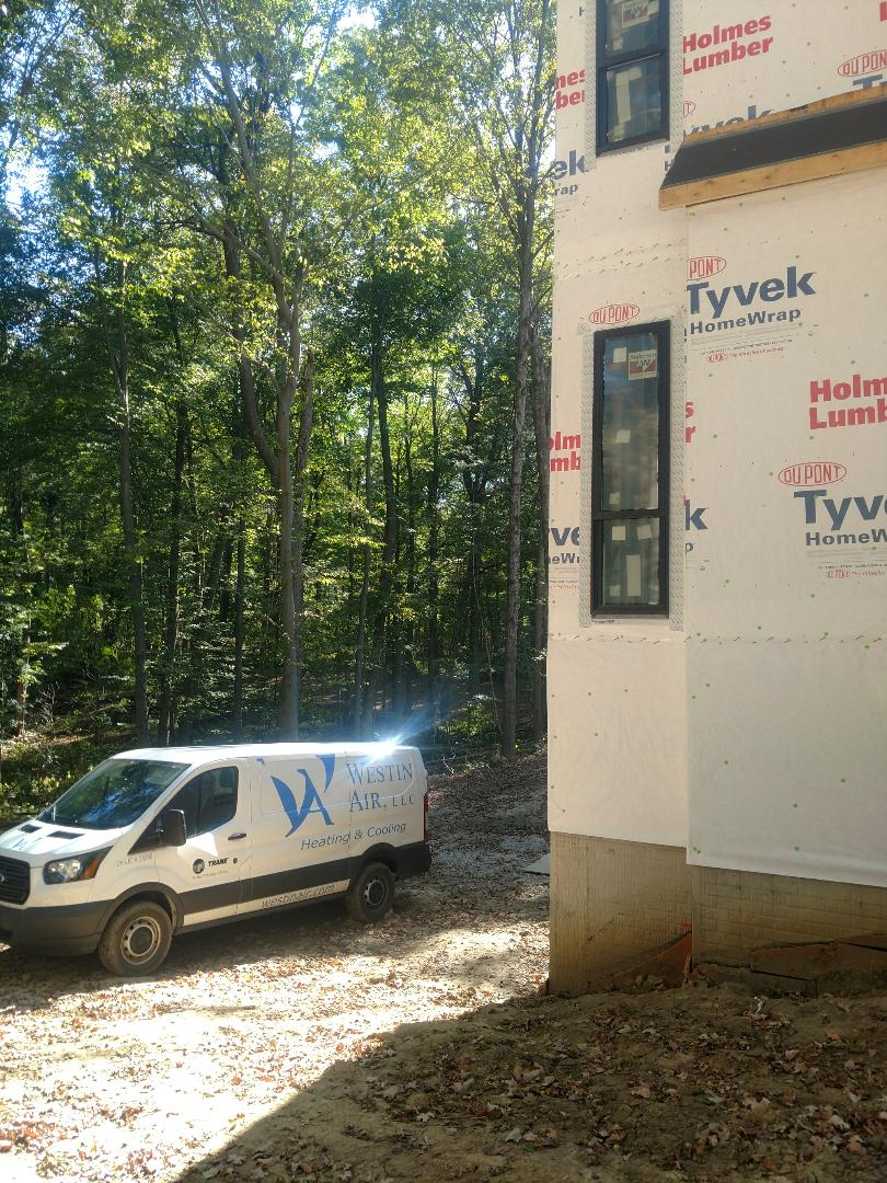 Delaware, OH - Installing Trane furnace in new construction home near Delaware.